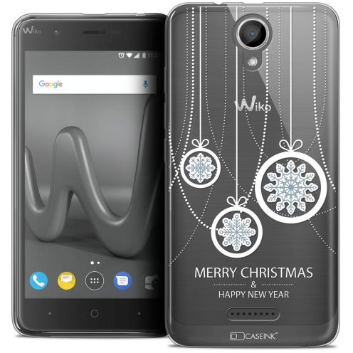 "Coque Crystal Gel Wiko Harry (5"") Extra Fine Noël 2017 - Christmas Balls"