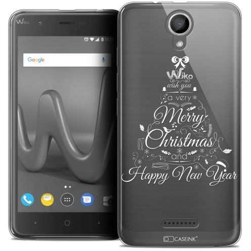 "Coque Crystal Gel Wiko Harry (5"") Extra Fine Noël 2017 - Calligraphie"