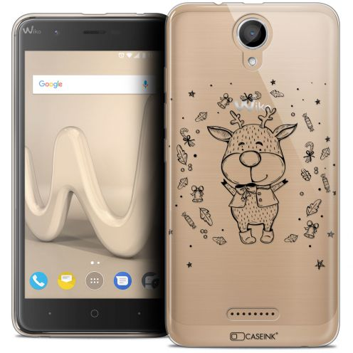 "Coque Crystal Gel Wiko Harry (5"") Extra Fine Noël 2017 - Sketchy Cerf"