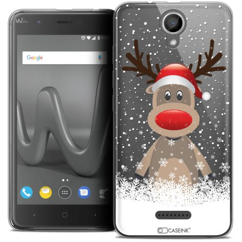 "Coque Crystal Gel Wiko Harry (5"") Extra Fine Noël 2017 - Cerf au Bonnet"