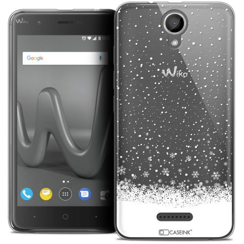 "Coque Crystal Gel Wiko Harry (5"") Extra Fine Noël 2017 - Flocons de Neige"