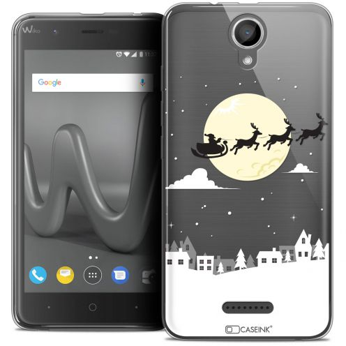 "Coque Crystal Gel Wiko Harry (5"") Extra Fine Noël 2017 - Flying Stanta"