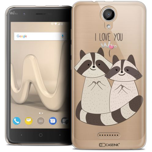 "Coque Crystal Gel Wiko Harry (5"") Extra Fine Sweetie - Racoon Love"