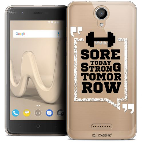 "Coque Crystal Gel Wiko Harry (5"") Extra Fine Quote - Strong Tomorrow"