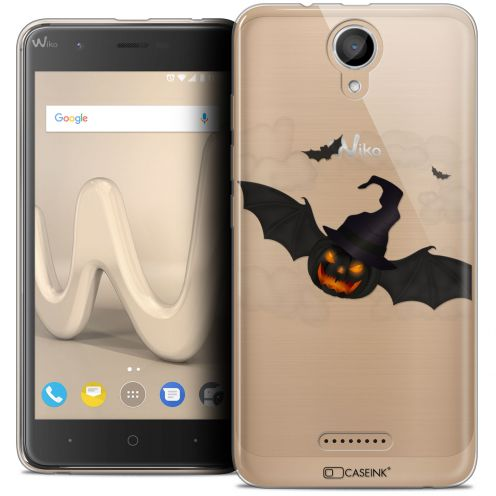 "Coque Crystal Gel Wiko Harry (5"") Extra Fine Halloween - Chauve Citrouille"