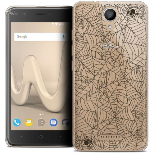 "Coque Crystal Gel Wiko Harry (5"") Extra Fine Halloween - Spooky Spider"