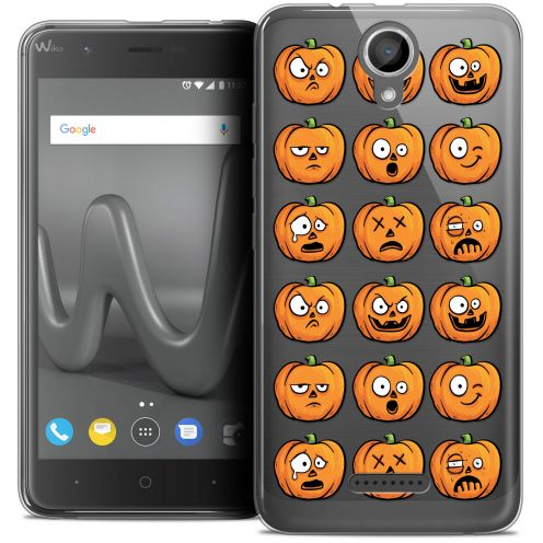"Coque Crystal Gel Wiko Harry (5"") Extra Fine Halloween - Cartoon Citrouille"