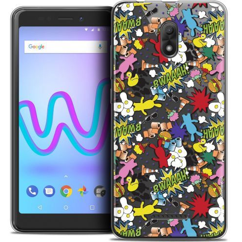 "Coque Gel Wiko Jerry 3 (5.45"") Extra Fine Lapins Crétins™ - Bwaaah Pattern"