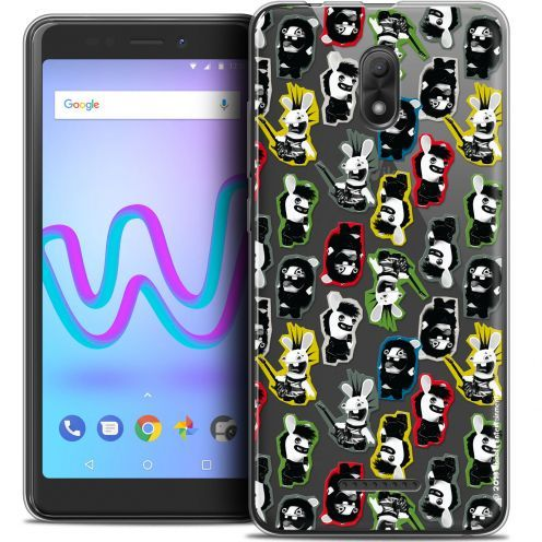"Coque Gel Wiko Jerry 3 (5.45"") Extra Fine Lapins Crétins™ - Punk Pattern"