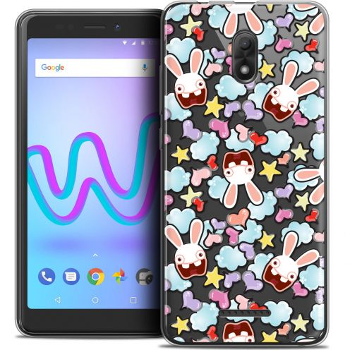 "Coque Gel Wiko Jerry 3 (5.45"") Extra Fine Lapins Crétins™ - Love Pattern"