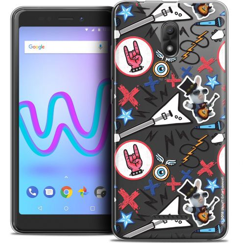 "Coque Gel Wiko Jerry 3 (5.45"") Extra Fine Lapins Crétins™ - Rock Pattern"