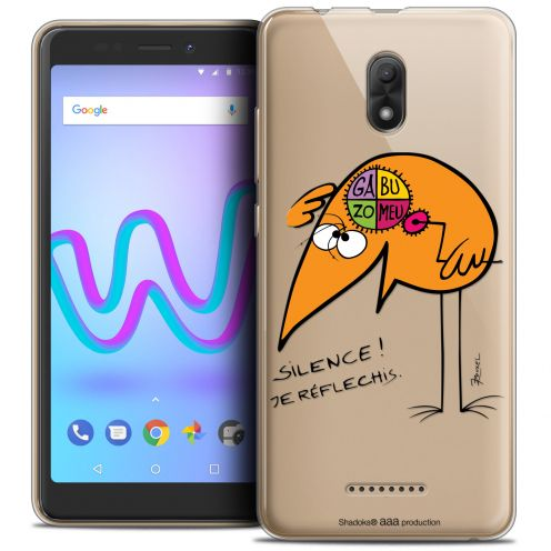 "Coque Gel Wiko Jerry 3 (5.45"") Extra Fine Les Shadoks® - Silence !"