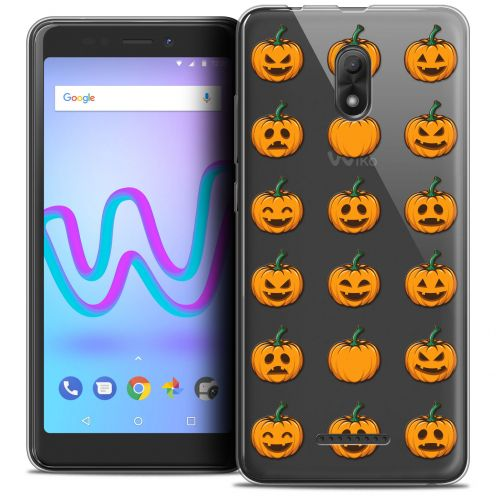 "Coque Crystal Gel Wiko Jerry 3 (5.45"") Extra Fine Halloween - Smiley Citrouille"