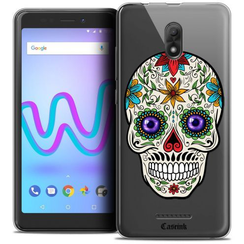 """Coque Crystal Gel Wiko Jerry 3 (5.45"""") Extra Fine Skull - Maria's Flower"""