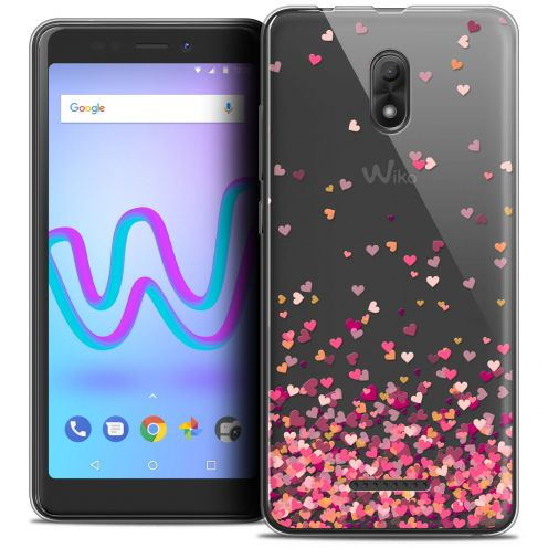 """Coque Crystal Gel Wiko Jerry 3 (5.45"""") Extra Fine Sweetie - Heart Flakes"""