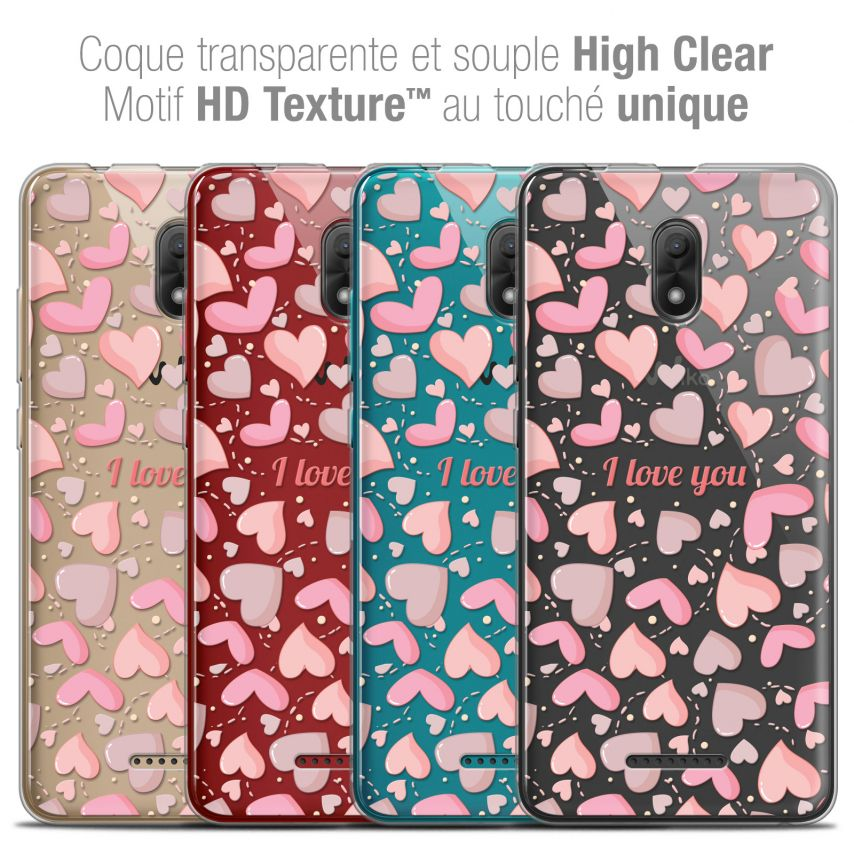 "Coque Crystal Gel Wiko Jerry 3 (5.45"") Extra Fine Love - I Love You"