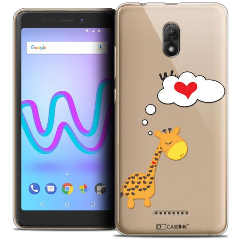 """Coque Crystal Gel Wiko Jerry 3 (5.45"""") Extra Fine Love - Girafe Amoureuse"""