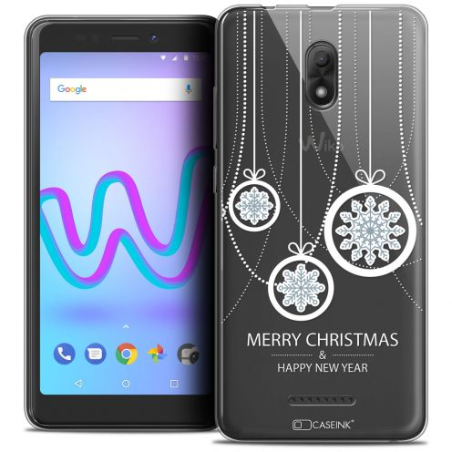 """Coque Crystal Gel Wiko Jerry 3 (5.45"""") Extra Fine Noël 2017 - Christmas Balls"""