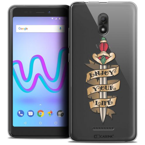 """Coque Crystal Gel Wiko Jerry 3 (5.45"""") Extra Fine Tatoo Lover - Enjoy Life"""