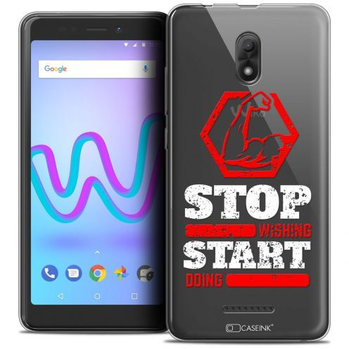 """Coque Crystal Gel Wiko Jerry 3 (5.45"""") Extra Fine Quote - Start Doing"""
