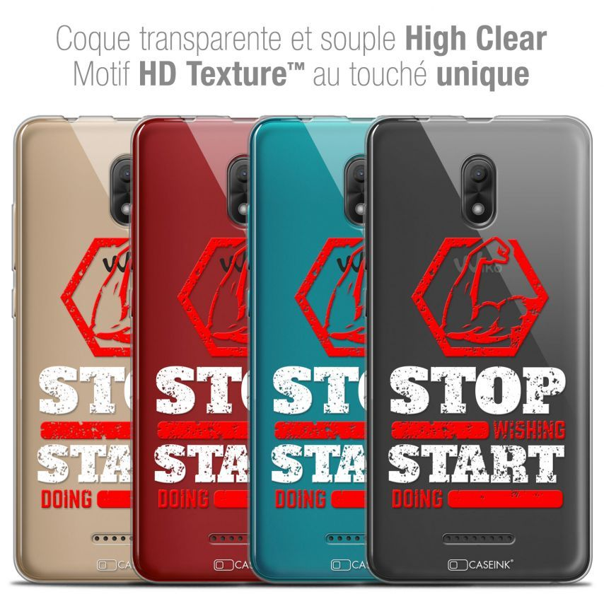 "Coque Crystal Gel Wiko Jerry 3 (5.45"") Extra Fine Quote - Start Doing"