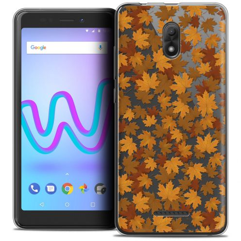 """Coque Crystal Gel Wiko Jerry 3 (5.45"""") Extra Fine Autumn 16 - Feuilles"""