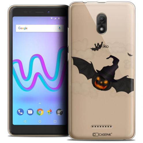 """Coque Crystal Gel Wiko Jerry 3 (5.45"""") Extra Fine Halloween - Chauve Citrouille"""