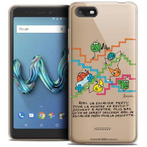 """Coque Gel Wiko Tommy 3 (5.45"""") Extra Fine Les Shadoks® - L'escalier"""