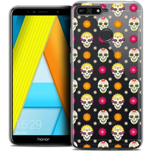 "Coque Crystal Gel Honor 7A (5.7"") Extra Fine Halloween - Skull Halloween"