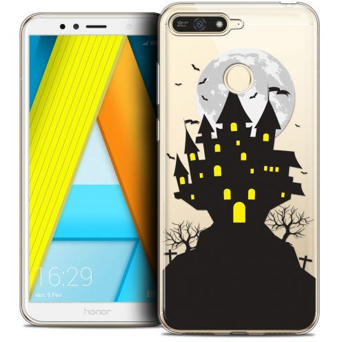 "Coque Crystal Gel Honor 7A (5.7"") Extra Fine Halloween - Castle Scream"