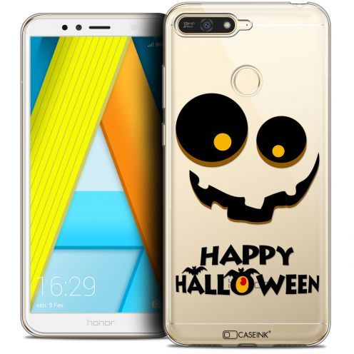"Coque Crystal Gel Honor 7A (5.7"") Extra Fine Halloween - Happy"