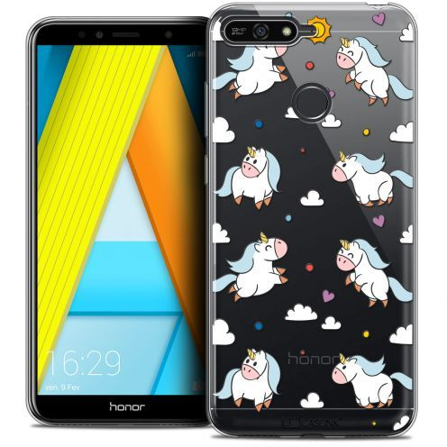 "Coque Crystal Gel Honor 7A (5.7"") Extra Fine Fantasia - Licorne In the Sky"
