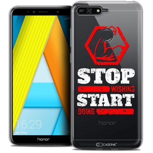 "Coque Crystal Gel Honor 7A (5.7"") Extra Fine Quote - Start Doing"