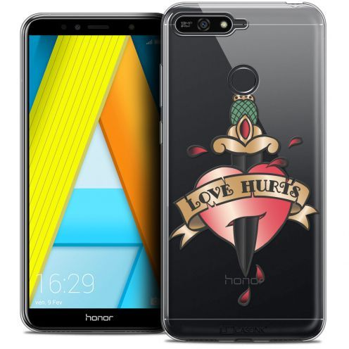 "Coque Crystal Gel Honor 7A (5.7"") Extra Fine Tatoo Lover - Love Hurts"
