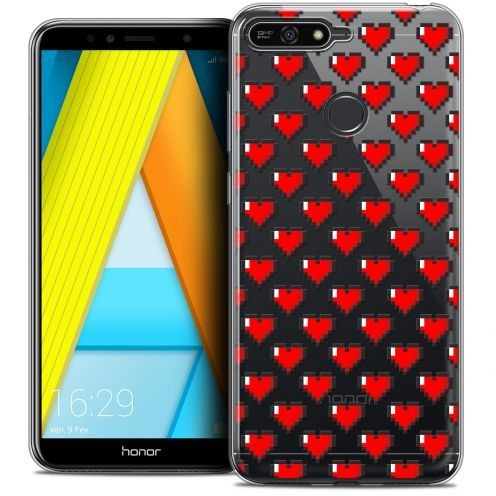 "Coque Crystal Gel Honor 7A (5.7"") Extra Fine Love - Pixel Art"