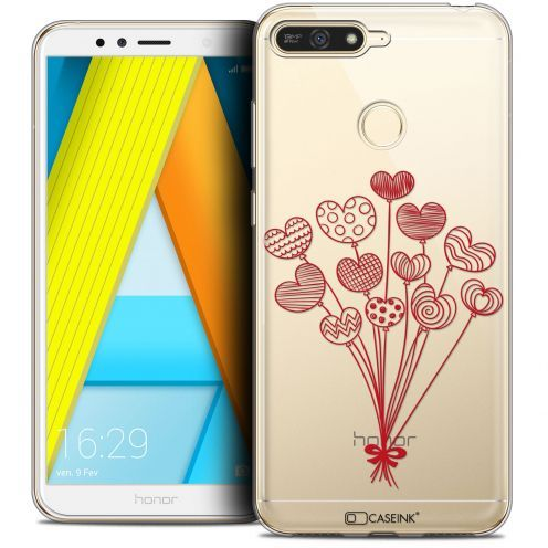 """Coque Crystal Gel Honor 7A (5.7"""") Extra Fine Love - Ballons d'amour"""