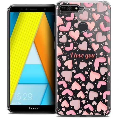 "Coque Crystal Gel Honor 7A (5.7"") Extra Fine Love - I Love You"