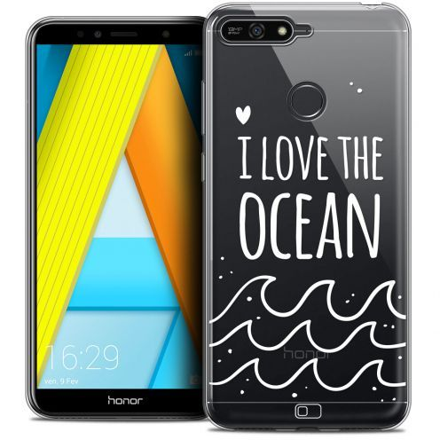 "Coque Crystal Gel Honor 7A (5.7"") Extra Fine Summer - I Love Ocean"