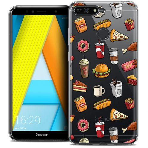 "Coque Crystal Gel Honor 7A (5.7"") Extra Fine Foodie - Fast Food"