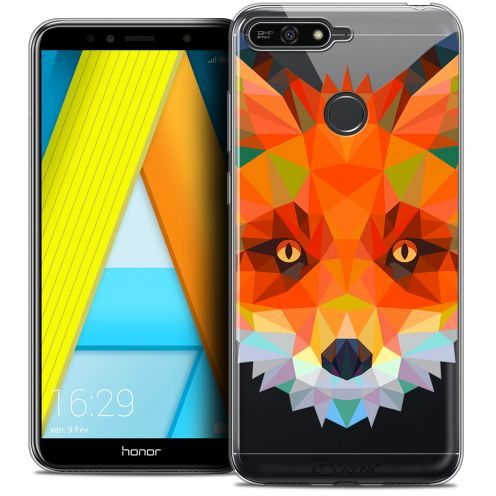 "Coque Crystal Gel Honor 7A (5.7"") Extra Fine Polygon Animals - Renard"