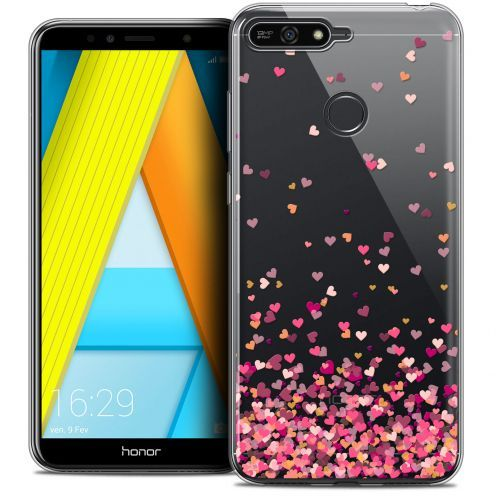 "Coque Crystal Gel Honor 7A (5.7"") Extra Fine Sweetie - Heart Flakes"