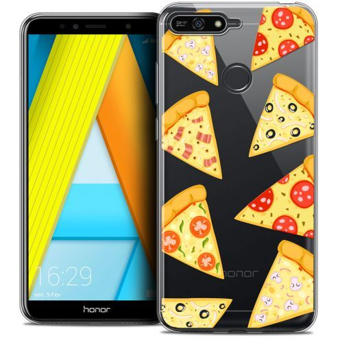 "Coque Crystal Gel Honor 7A (5.7"") Extra Fine Foodie - Pizza"