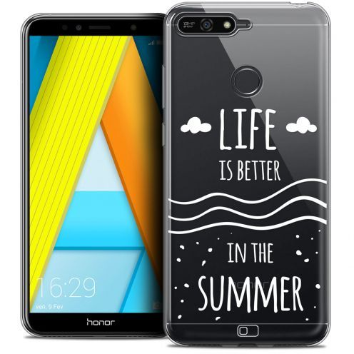 "Coque Crystal Gel Honor 7A (5.7"") Extra Fine Summer - Life's Better"