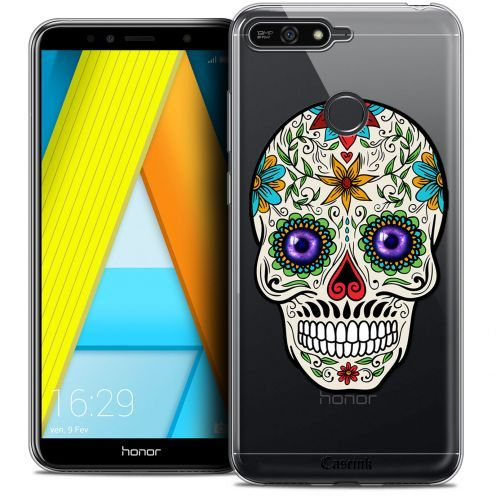 "Coque Crystal Gel Honor 7A (5.7"") Extra Fine Skull - Maria's Flower"