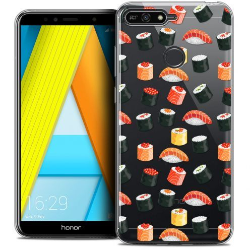 "Coque Crystal Gel Honor 7A (5.7"") Extra Fine Foodie - Sushi"