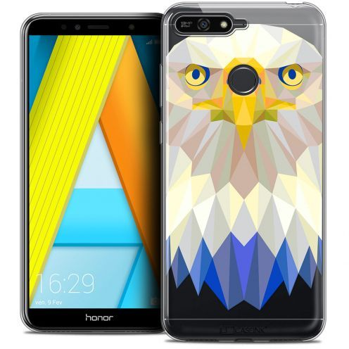 "Coque Crystal Gel Honor 7A (5.7"") Extra Fine Polygon Animals - Aigle"