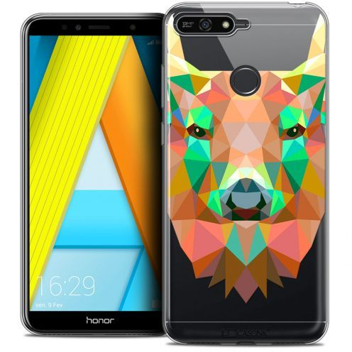 "Coque Crystal Gel Honor 7A (5.7"") Extra Fine Polygon Animals - Cerf"