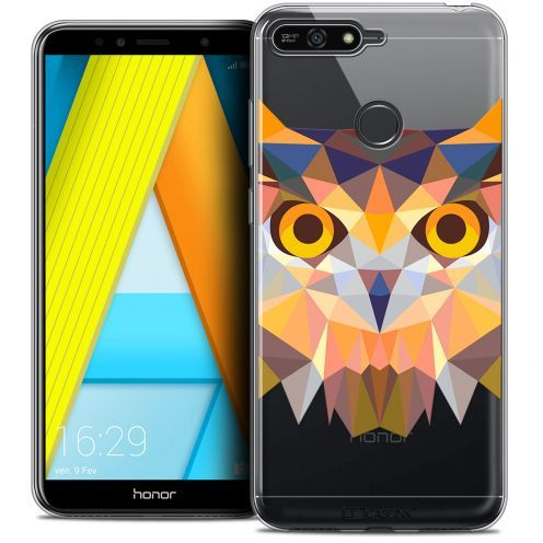 "Coque Crystal Gel Honor 7A (5.7"") Extra Fine Polygon Animals - Hibou"