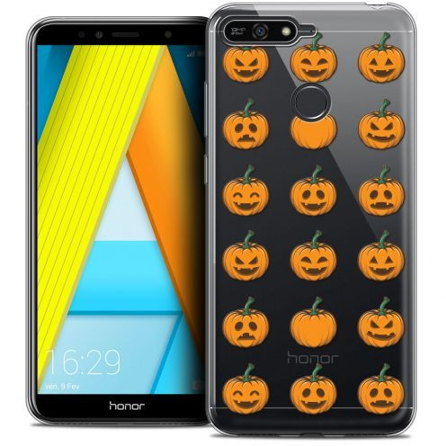 "Coque Crystal Gel Honor 7A (5.7"") Extra Fine Halloween - Smiley Citrouille"