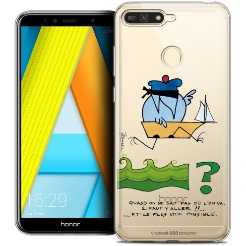 """Coque Gel Honor 7A (5.7"""") Extra Fine Les Shadoks® - Il Faut Y Aller !!"""